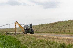 Tractorchauffeur voor Herdermaaier